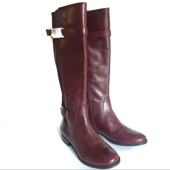 Live Imabby Leather Riding Boot Nwot